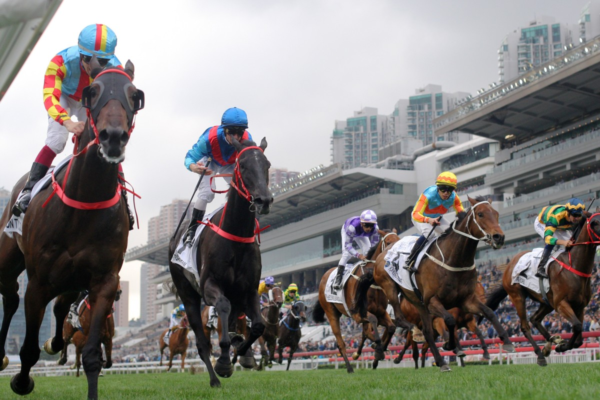Frankie Lor's three runners storm home in the Hong Kong Classic Cup (1,800m) last start. Photos: Kenneth Chan